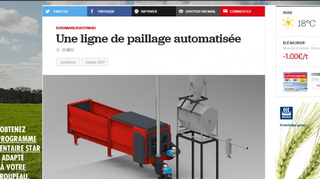 France Agricole - Ligne de paillage automatisée
