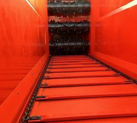 Pailleuse TX157XLESP - intérieur de caisse